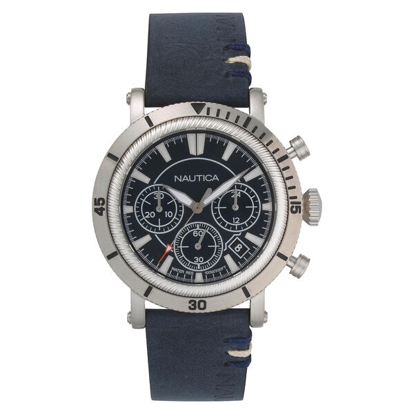 Fairmont Chronograph Watch with Leather Band - Multi