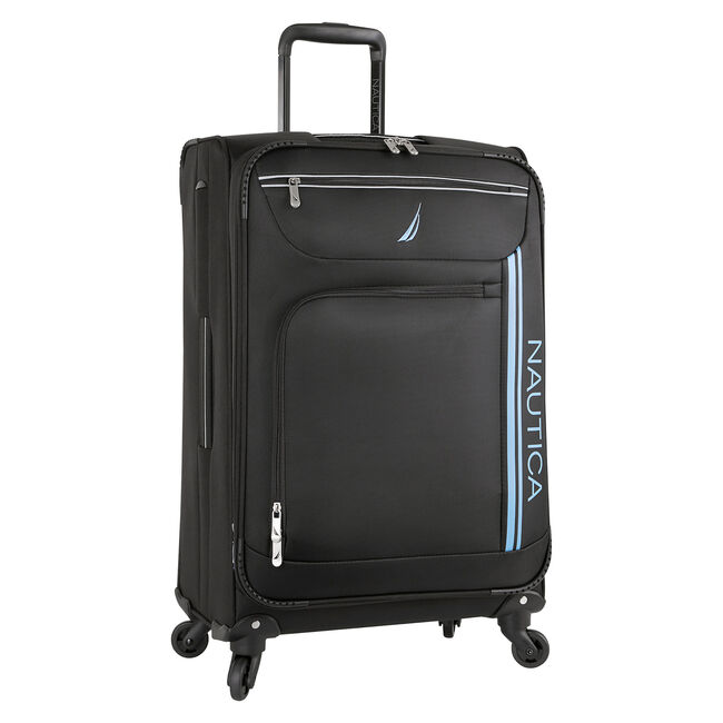 "Washboard 24"" Expandable Spinner Luggage,Black,large"