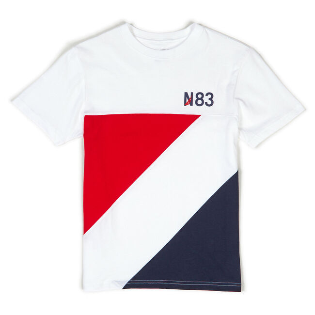 Toddler Boys' Striped Heritage Tee (2T-4T),White,large