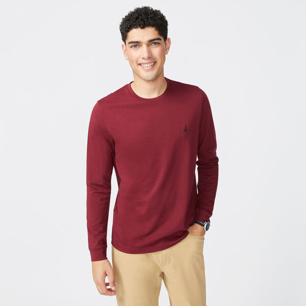 CREWNECK LONG SLEEVE T-SHIRT - Zinfandel