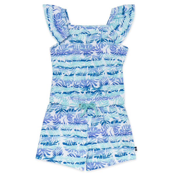GIRLS' JERSEY ROMPER - Clear Sky Blue