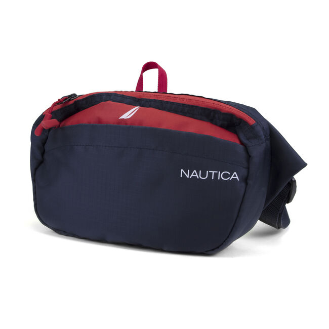 LOGO BELT BAG IN NAVY/RED,Nautica Red,large