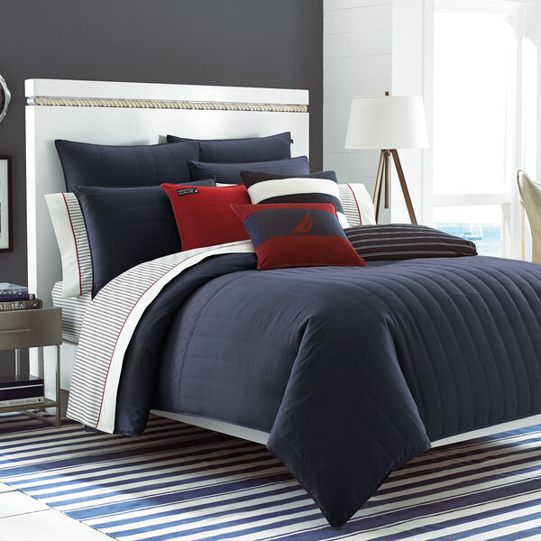 Mainsail Navy Twin Comforter Set - Starlight Blue