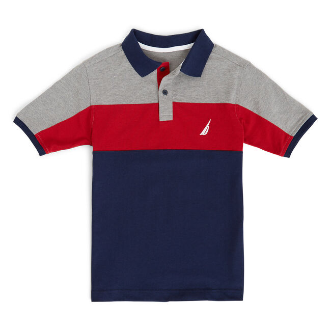 Boys' Breeze Jersey Pique Heritage Polo (8-20),Oyster Bay Blue,large