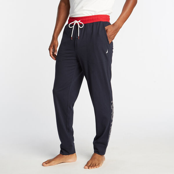 CLASSIC FIT GRAPHIC HERITAGE SLEEP JOGGERS - Pure Dark Pacific Wash