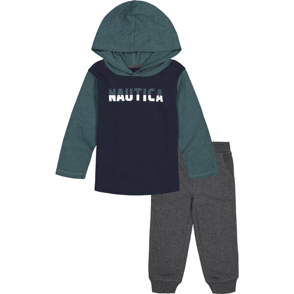 INFANT BOYS' THERMAL HOODIE 2PC JOGGER SET (12M-24M) - Navy