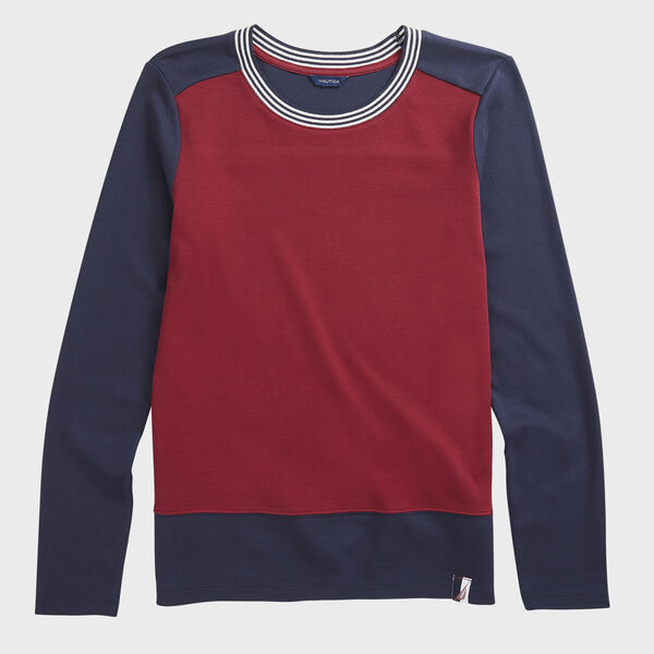 COLORBLOCK KNIT TOP - Classic Red