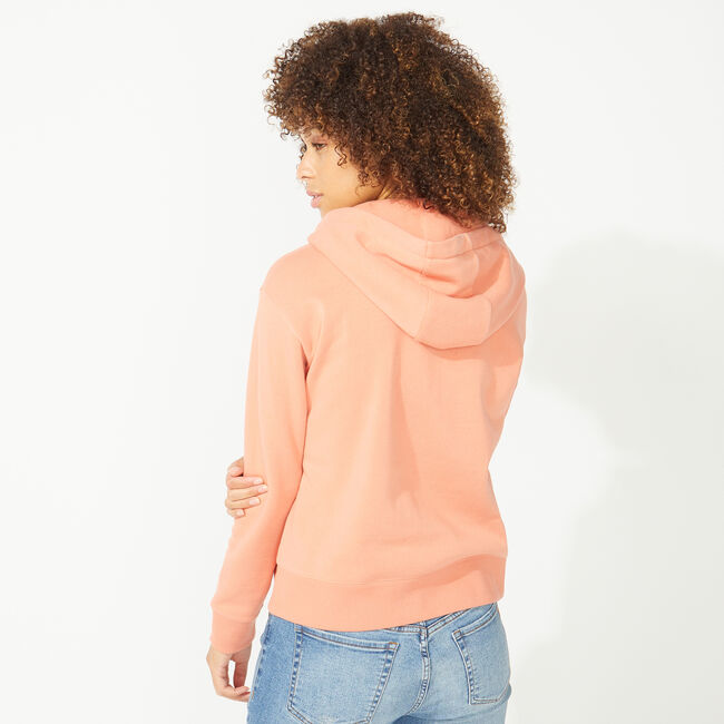 NAUTICA JEANS CO. CHENILLE LOGO HOODIE,Russet,large