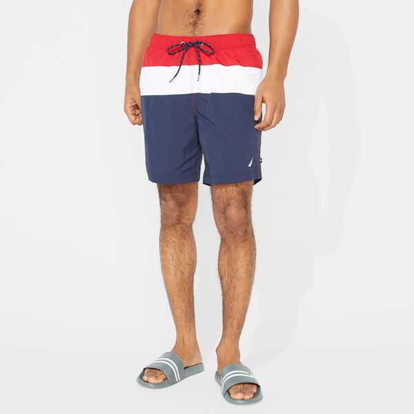 "8"" COLORBLOCK QUICK-DRY SWIM - Nautica Red"