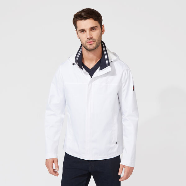 Classic Bomber With Packable Hood - Bright White