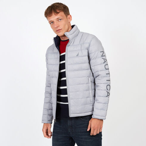 150f264ce9 Endeavour Quilted Reversible Jacket - Ocean Graphite Heather