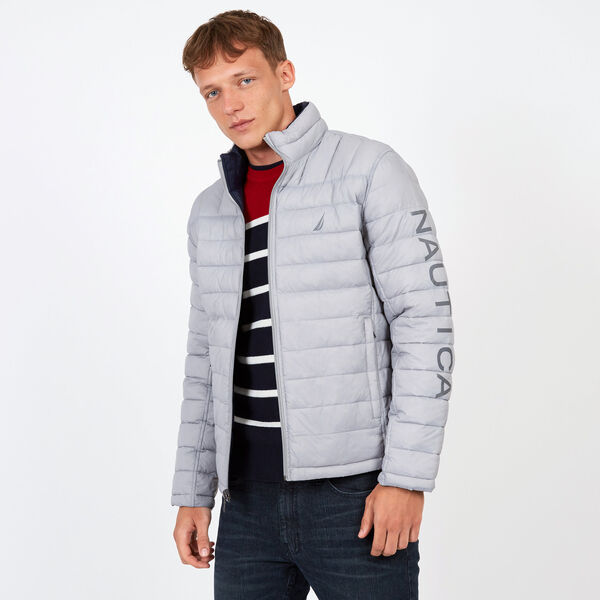 Endeavour Quilted Reversible Jacket - Ocean/Graphite Heather