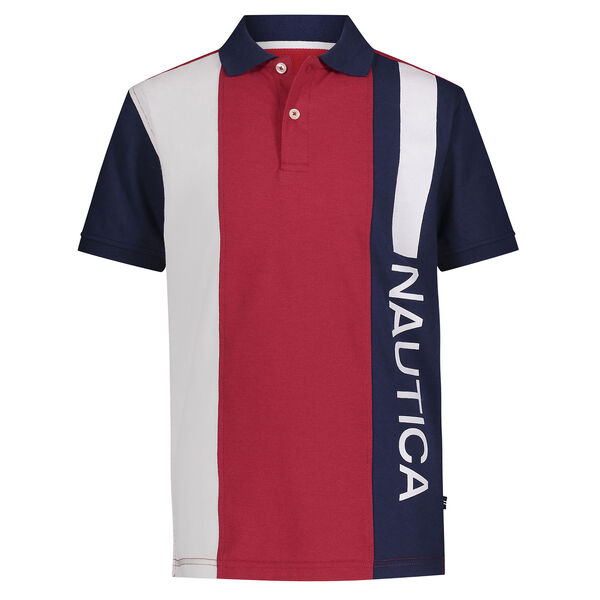 TODDLER BOYS' VERTICAL COLORBLOCK POLO (2T-4T) - J Navy
