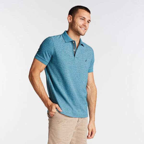SLIM FIT PERFORMANCE DECK POLO - Ocean Depth Heather