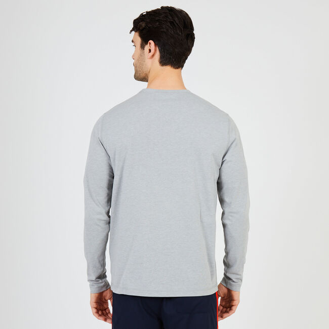NS-8 J-Class Long Sleeve Sleep T-Shirt,Grey Heather,large