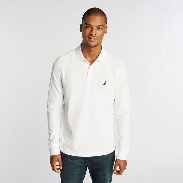 CLASSIC FIT J-CLASS LONG SLEEVE POLO - Bright White