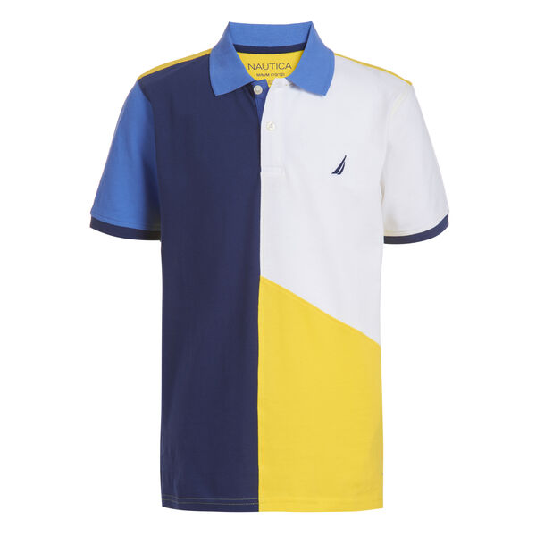 BOYS' MICKEY COLORBLOCK HERITAGE POLO (8-20) - Marigold