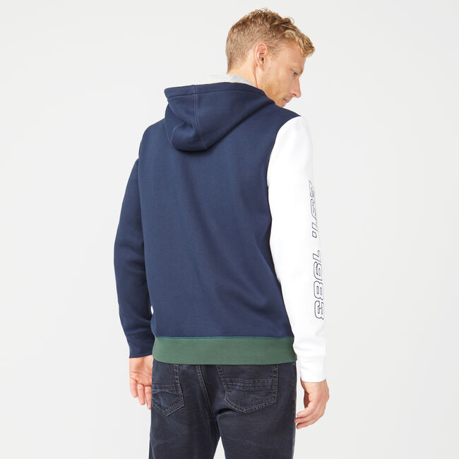 FULL-ZIP FLEECE HOODIE,Navy,large