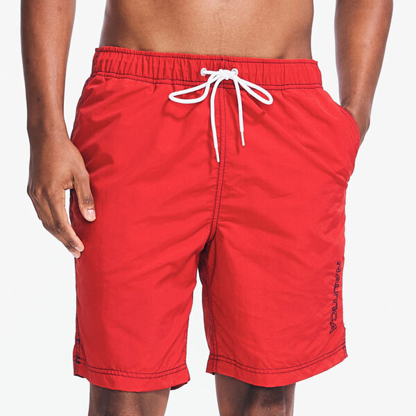 "8"" LOGO QUICK-DRY SWIM - Nautica Red"