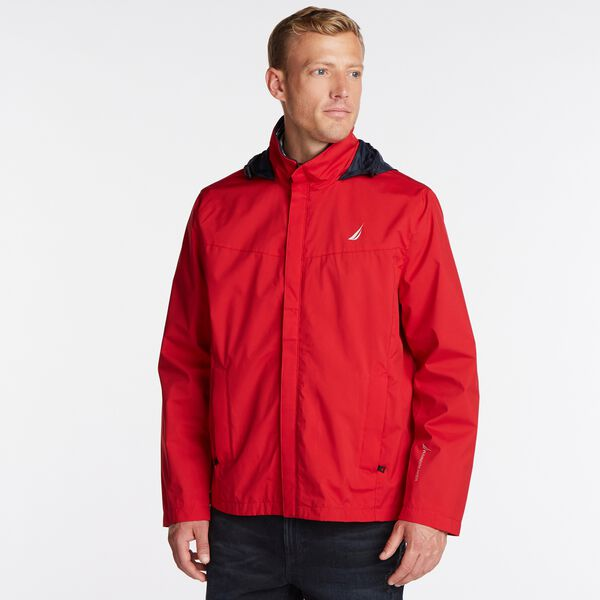 Classic Bomber With Packable Hood - Nautica Red