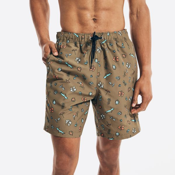 """SUSTAINABLY CRAFTED 8"""" PRINTED SWIM - Shaded Spruce Heather"""