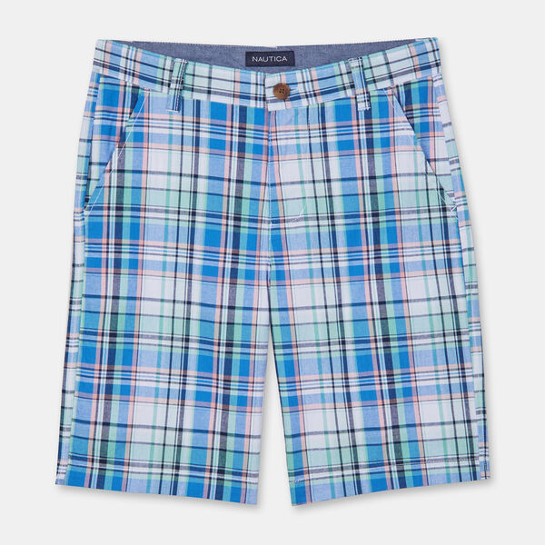 BOYS' TRISTAN PLAID SHORTS (8-20) - Antique White Wash