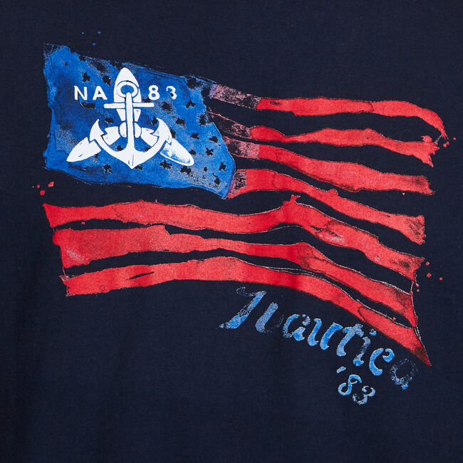 JULY 4TH GRAPHIC T-SHIRT,Navy,large