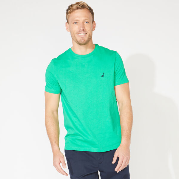SOLID CREW NECK T-SHIRT - Bright Green