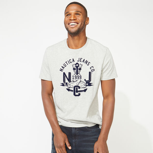 NAUTICA JEANS CO. NJC GRAPHIC TEE - Grey Heather