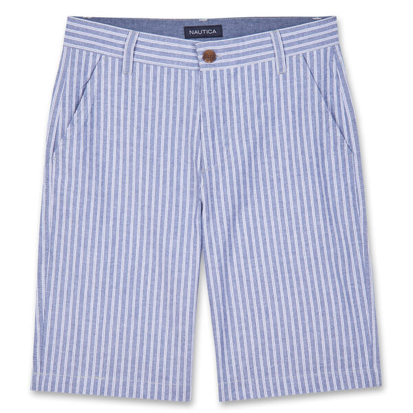 LITTLE BOYS' TREYLOR STRIPED SHORTS (4-7) - Pure Deep Sea Wash