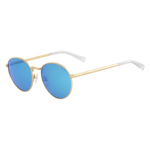 Round Sunglasses with Matte Frame - Light Gold