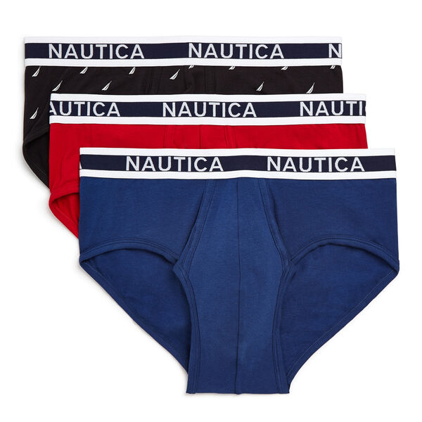 Stretch Classic Briefs, 3-Pack - Nantucket Red
