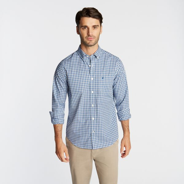 CLASSIC FIT WRINKLE-RESISTANT PLAID SHIRT - Limoges