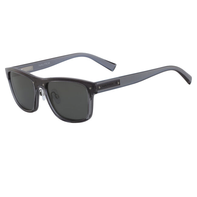 Classic Rectangle Sunglasses,Black,large