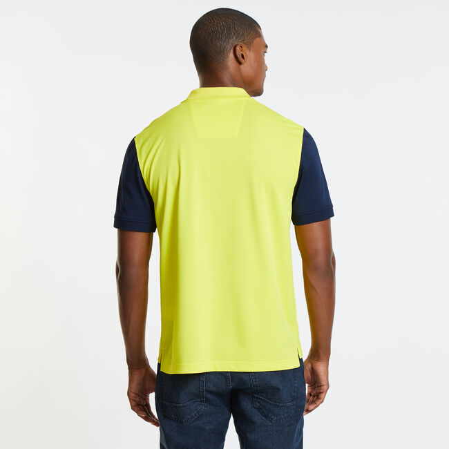 Classic Fit Ocean Sailing Tech Polo,Canary,large