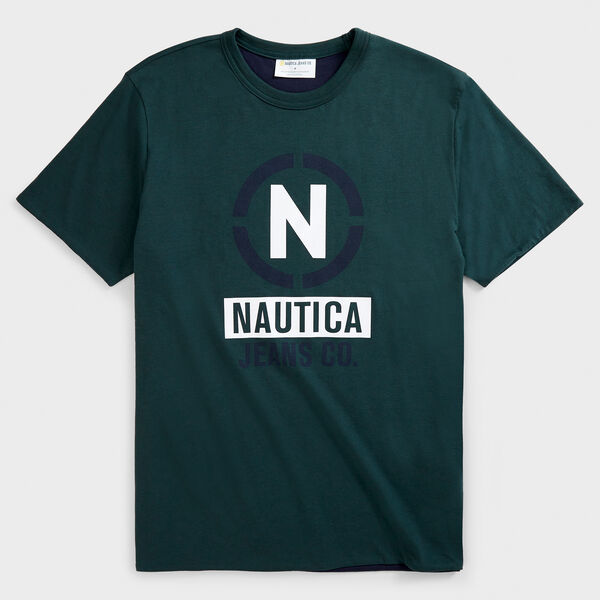 NAUTICA JEANS CO. SUSTAINABLY CRAFTED REVERSIBLE GRAPHIC T-SHIRT - Green