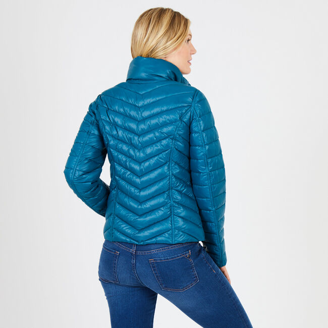 Reversible Packable Puffer Jacket,Deep Sea,large