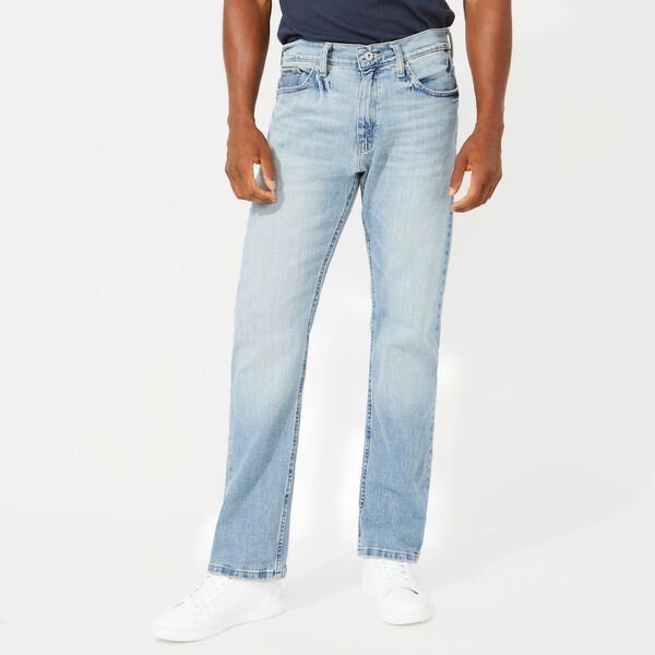 5-Pocket Stretch Jeans with Tapered Leg - Blue