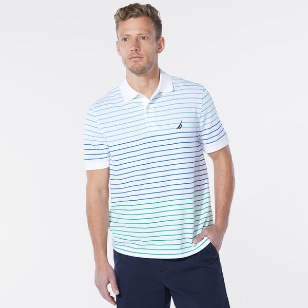 CLASSIC FIT STRIPE POLO - Bright White