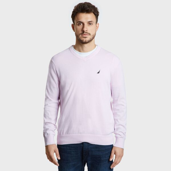 Jersey Navtech V-Neck Sweater - Cradle Pink
