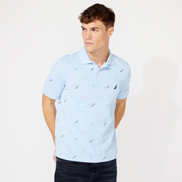 CLASSIC FIT MARITIME ICON POLO - Azure Blue