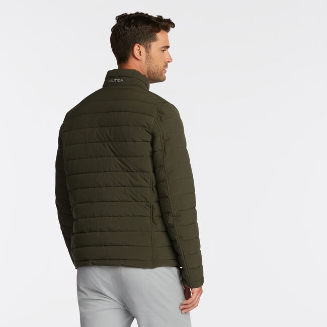 STRETCH REVERSIBLE PUFFER,Gulf Coast Teal,large