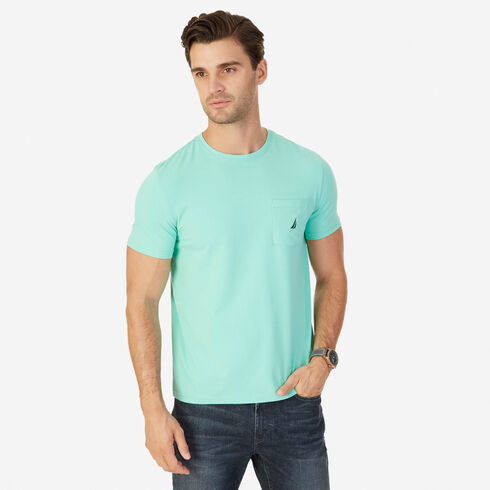 Short Sleeve Tee with Chest Pocket - Mist Green