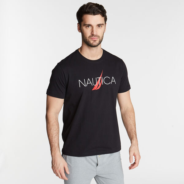 NAUTICA LOGO SLEEP T-SHIRT - True Black