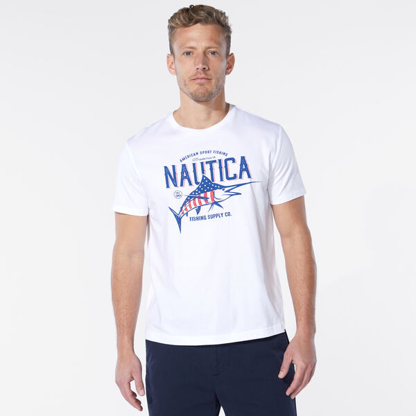 AMERICANA MARLIN GRAPHIC TEE - Bright White