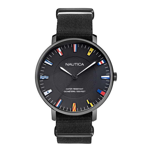 CAPRERA BLACK STRAP WATCH - Multi