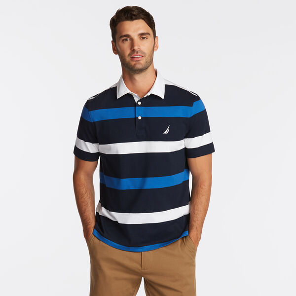 CLASSIC FIT MIXED STRIPE POLO - Pure Dark Pacific Wash