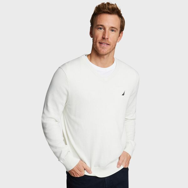 Navtech V-Neck Sweater - Marshmallow