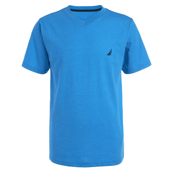 BOYS' CHANNEL V-NECK TEE (8-20) - Star Turquoise