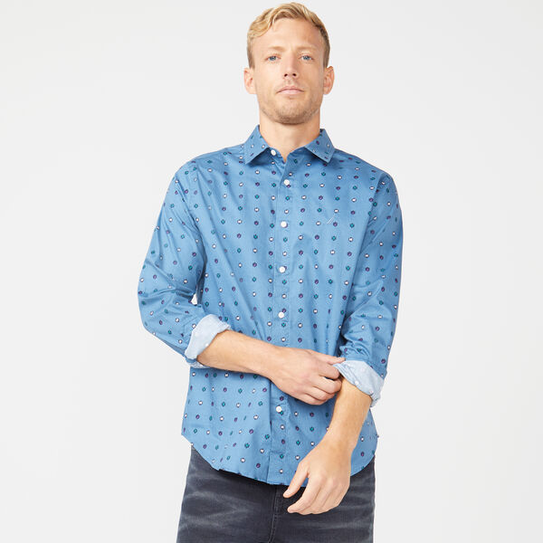 CLASSIC FIT NAUTICAL ICONS LONG SLEEVE OXFORD SHIRT - Blue Stern
